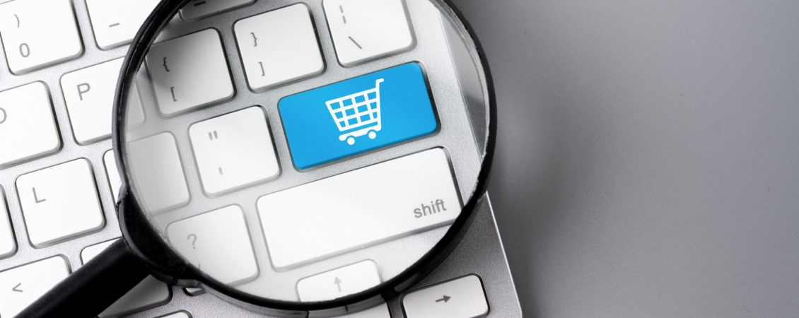 online-shopping-business-icon-on-retro-computer-keyboard